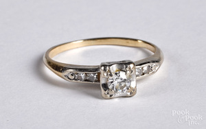 14K gold and diamond wedding ring
