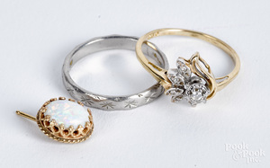 Platinum ring, 2.3 dwt.