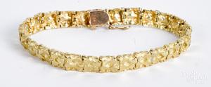 14K gold bracelet, 17.1 dwt.