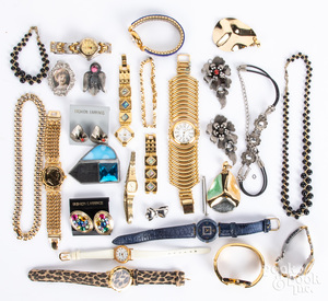 Costume jewelry, wristwatches, etc.