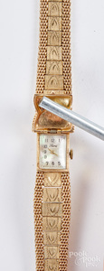 Lura 14K gold ladies wristwatch, 28.4 dwt.