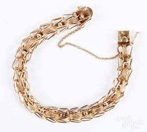 14K gold bracelet, 12.3 dwt.