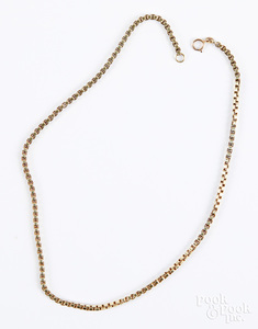 14K gold necklace, 8.6 dwt.