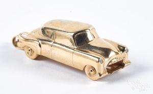 14K gold car pendant