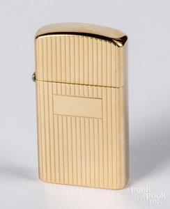 14K gold Zippo lighter