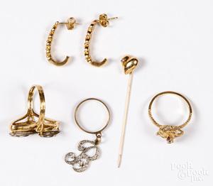14K gold diamond and gemstone jewelry