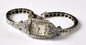 Blancpain platinum and diamond ladies wristwatch
