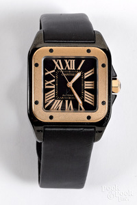 100 stainless steel and 18K gold wristwatch