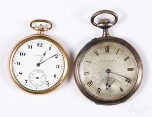 Louis Grisel silver pocket watch, etc.