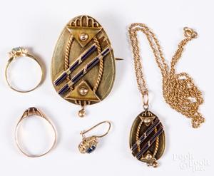 14K gold and gemstone jewelry