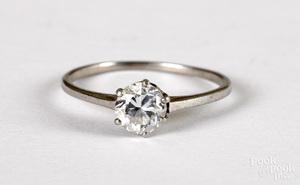 950 platinum diamond solitaire ring