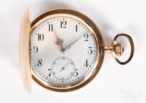14K gold pocket watch.