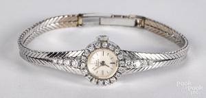 18K white gold and diamond ladies wristwatch