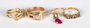 10K gold, diamond and gemstone jewelry