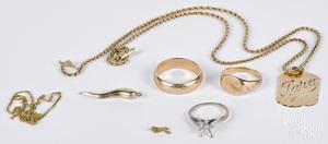 14K gold jewelry