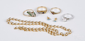 14K and 10K gold and gemstone jewelry