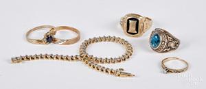 10K diamond and gemstone jewelry