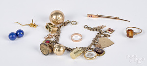 Gold and gold filled jewelry.