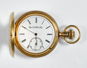 14K three tone gold Elgin pocket watch