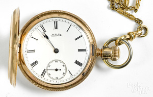 10K gold Waltham ladies pocket watch