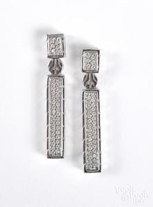 John Hardy silver and diamond earrings