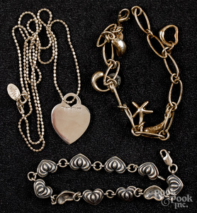 Lagos sterling silver bracelet, etc.