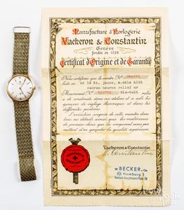 Vacheron & Constantin 18K gold wristwatch