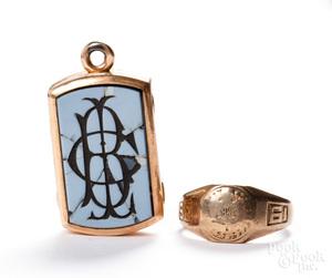 10K gold ring, 4.1 dwt, etc.