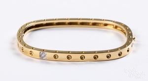 18K yellow gold and diamond Roberto Coin bracelet