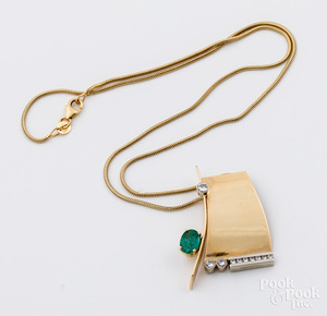 Robert Trisko 14K yellow gold pendant