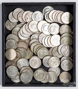 Sixty Kennedy half dollars, 1965-1970, etc.