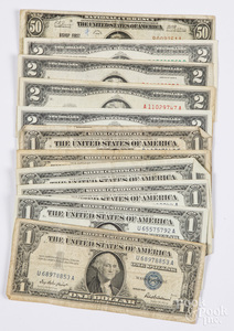 US paper currency, etc.