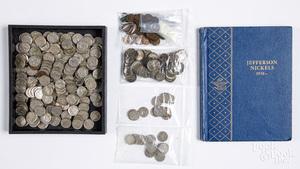 Buffalo nickels, Indian pennies, etc.