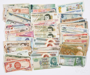 Foreign paper currency.