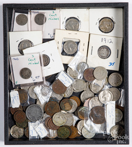 Collection of early US coins,