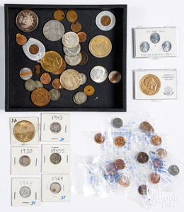 US coins, to include a Peace dollar