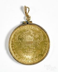 1898-S twenty dollar gold coin