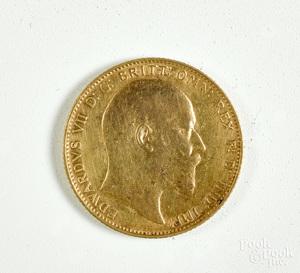 1907 gold sovereign.