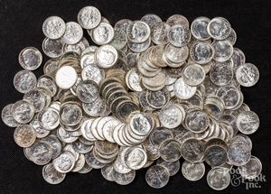 Uncirculated Roosevelt silver dimes, 20.1 ozt.