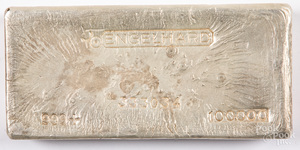 Engelhard 100 ozt. fine silver bar.
