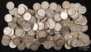 Roosevelt and Mercury silver dimes, 17.3 ozt.