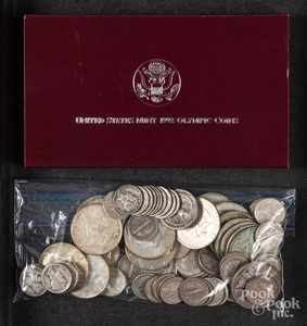 US silver coins, 8.5 ozt., etc.