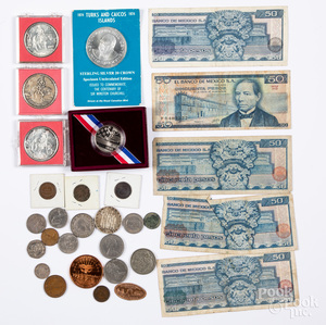 Mostly foreign coins and commemoratives