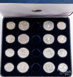 Chinese 1988 Seoul Olympic silver coin set.