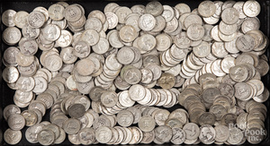 Silver quarters, 85.3 ozt.