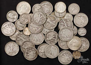 US silver coins, 11.3 ozt.