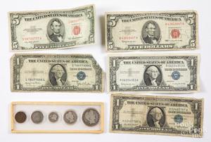 US Barber coin set, etc.