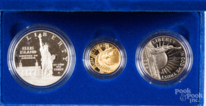 Two US Liberty coin sets