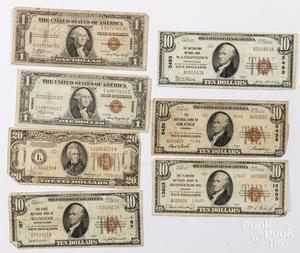 US paper currency, to include Hawaii twenty dollar