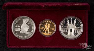 Los Angeles Olympiad three coin set